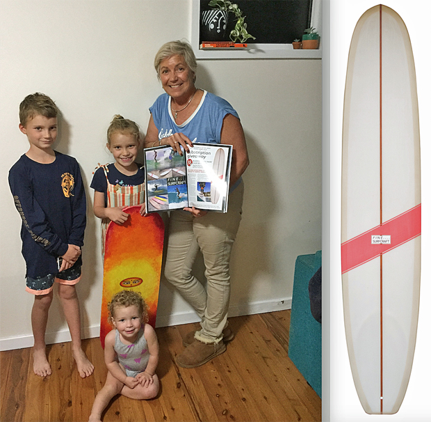 Image 1 for Lesa lands the Fine Surfcraft by Andrew Warhurst – our 88th magazine subscriber giveaway!