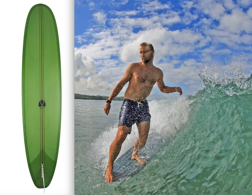 Image 1 for Win a Jye Byrnes single-fin V-Wizard – and what a gem for our 86th board!