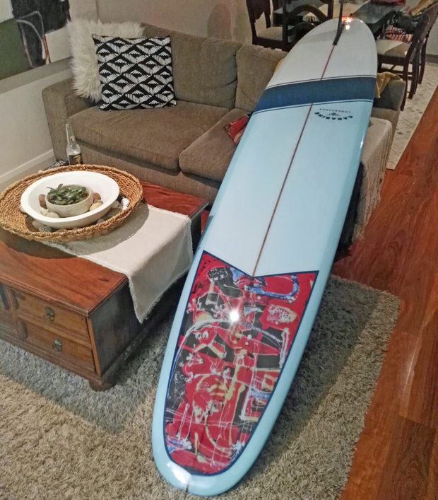 """Image 3 for Our 90th subscriber board winner John Sorby picks up his Carabine 9'8"""" Space Pig"""