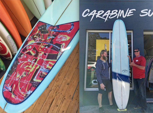 """Image 1 for Our 90th subscriber board winner John Sorby picks up his Carabine 9'8"""" Space Pig"""
