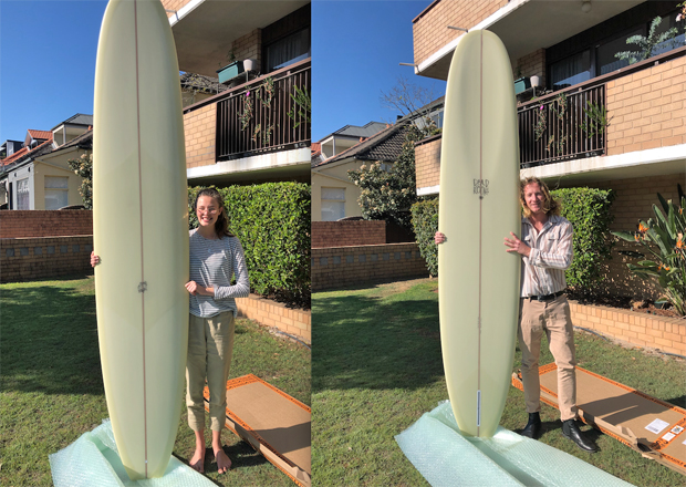 Image 1 for Dead Kook delivery – Marcus and Jacqui, our 87th PLB subscriber winners, get their new board