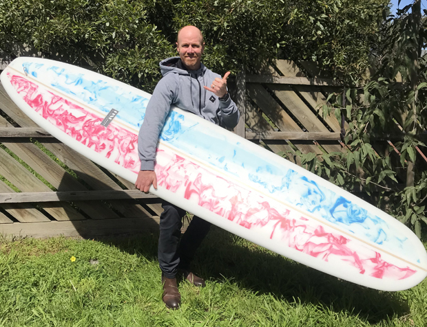 """Image 1 for The Fine Surfcraft """"Pilsner"""" lands with our 91st subscriber board winner on Victoria's Mornington Peninsula"""
