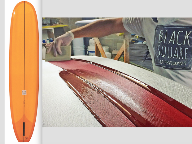 "Image 2 for Our 85th free board! Win a 9'2"" fully handmade Black Square Noserider!"