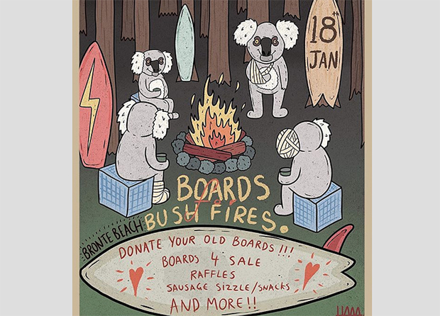 Image 1 for Sydney surfers can donate boards for the Bronte Boardriders bushfire appeal