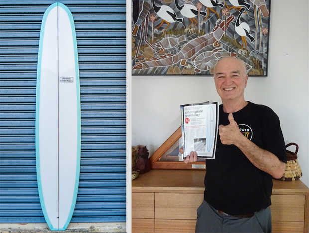 Image 1 for Gerry wins the Pilsner from Fine Surfcraft by Andrew Warhurst