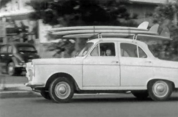 """Image 1 for 1963, Pearl Turton at Palmy from the """"Surf and Underwater Girls Series"""" newsreels"""
