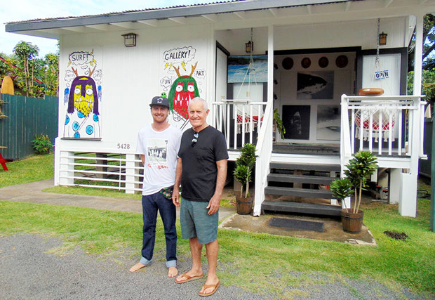 Image 1 for Art + history + surf – Ryan Hakman opens his 'Ohanalei gallery in Hanalei on Kauai