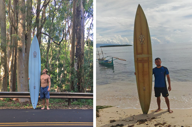 Image 1 for How a lost surfboard floated from Hawaii to the Philippines