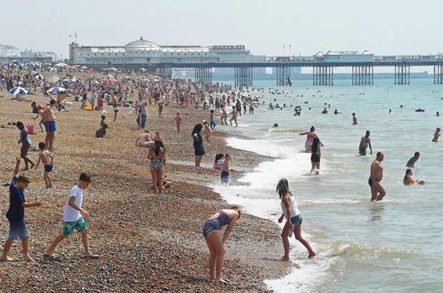 """Image 1 for Europe hottest ever, beaches packed . . . ocean """"too warm"""""""