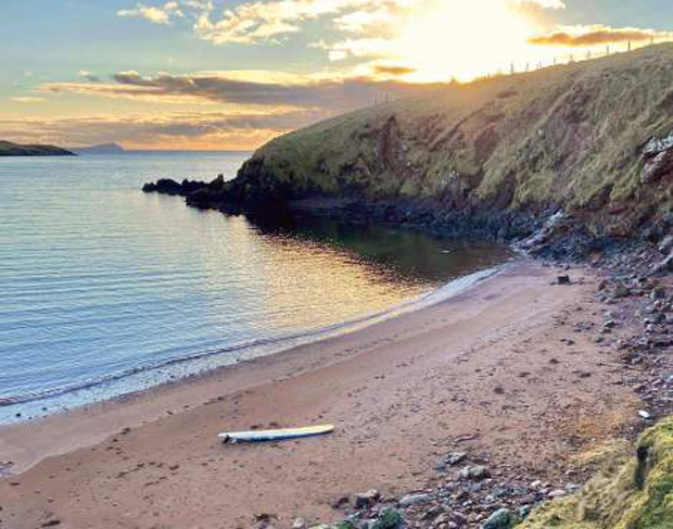 Image 1 for Lost longboard washed up on Scottish Island had travelled over 400 miles in the North Sea