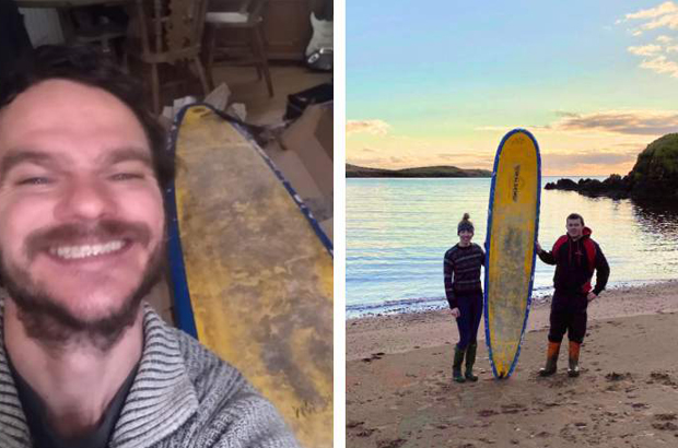 Image 2 for Lost longboard washed up on Scottish Island had travelled over 400 miles in the North Sea