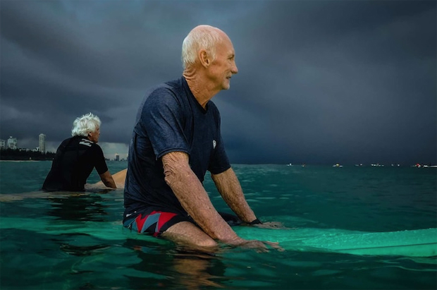 Image 1 for Surfing septuagenarian Des Salmon reveals his secrets to staying young, fit and healthy