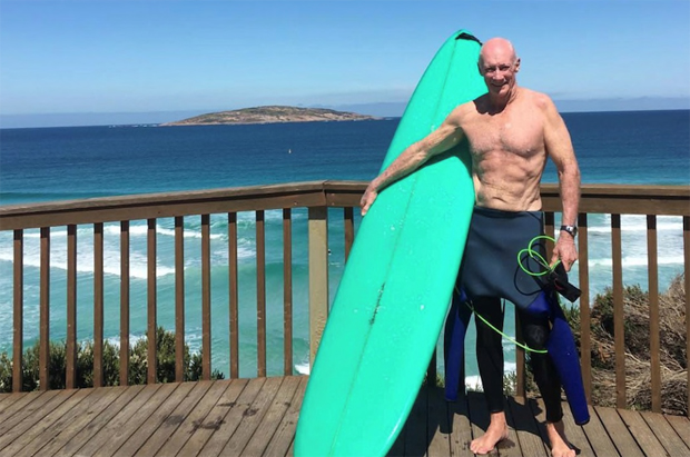 Image 3 for Surfing septuagenarian Des Salmon reveals his secrets to staying young, fit and healthy