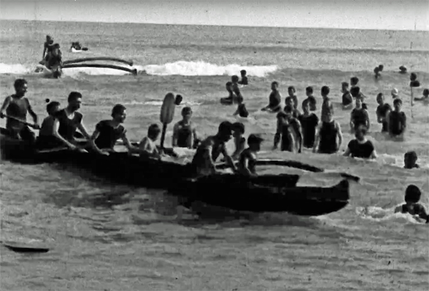 """Image 3 for The oldest footage ever shot of surfing - Thomas Edison's """"Surf Scenes"""" – filmed in 1906"""