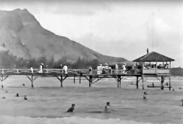 """Image 1 for The oldest footage ever shot of surfing - Thomas Edison's """"Surf Scenes"""" – filmed in 1906"""