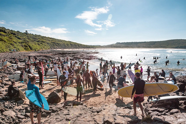 Image 2 for Paddle-out to save Killalea Surfing Reserve at The Farm may break world record