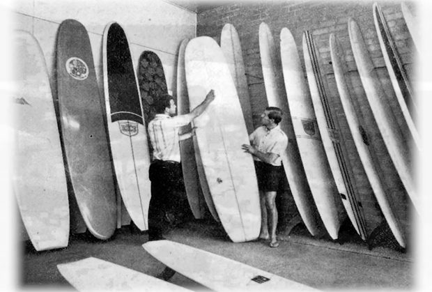 Image 1 for Then and Now – a seven-minute video tribute to George Rice and his classic boards