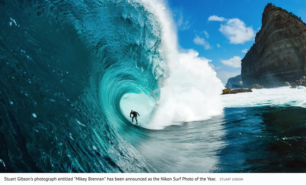 Image 1 for Stu Gibson nails the 2019 Nikon Surf Photo of the year