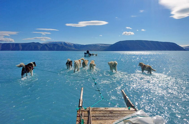 Image 1 for Apologies for bringing scary news, but here's the latest on Greenland's melting ice