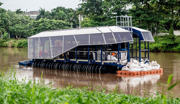 Image 1 for Meet the Interceptor! Getting plastic out of rivers – before it reaches the ocean