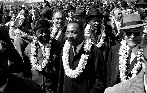 Image 1 for Hawaiian leis and pure aloha at Martin Luther King Jr. march in the Deep South
