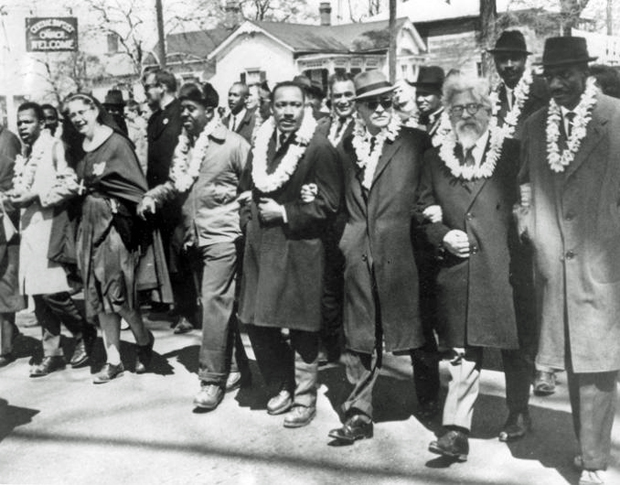 Image 2 for Hawaiian leis and pure aloha at Martin Luther King Jr. march in the Deep South
