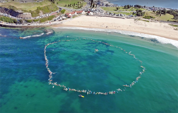 Image 3 for Newcastle paddles out to say STICK IT PEP11 – Byron Bay is next