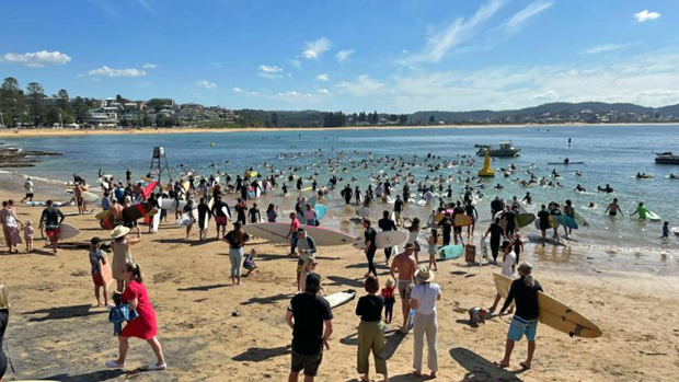 Image 2 for Terrigal paddles out to protest PEP11 - next it's Newcastle