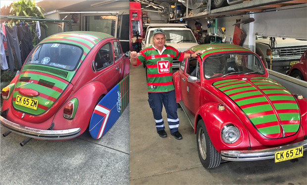Image 2 for So Russel Crowe's the biggest South Sydney Rabbitohs fan? Hardly! Hail Jack and Corey