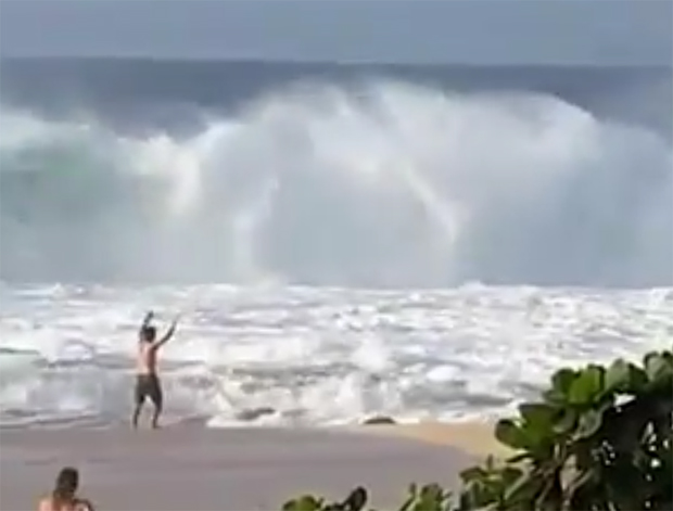 Image 1 for Mikey and Tyler Wright in surf rescue on the North Shore - news & video