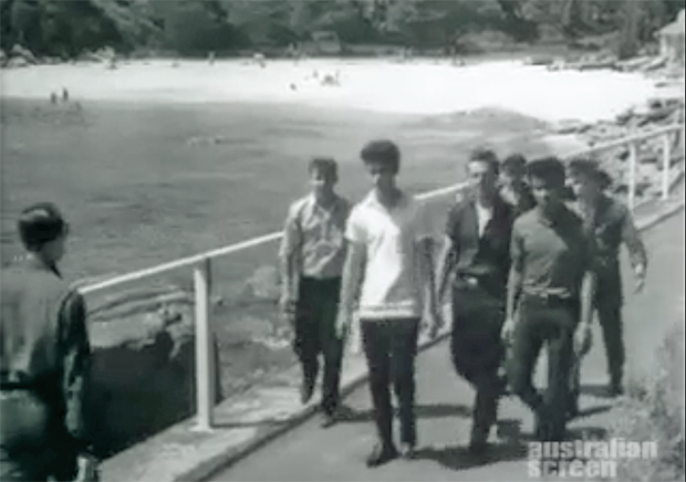 """Image 1 for """"All Quiet on the Surfie-Rocker Front"""" – cinema newsreel from 1963"""