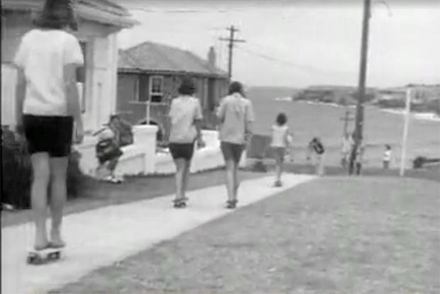 "Image 1 for ""Gremlins and Sandies in New Craze - Roller Boarding"" - 1964"