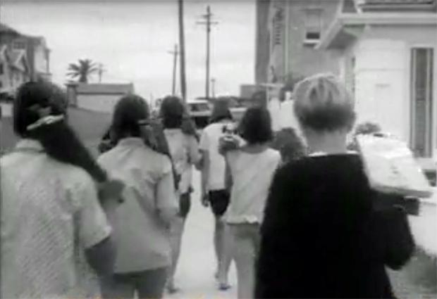 "Image 2 for ""Gremlins and Sandies in New Craze - Roller Boarding"" - 1964"