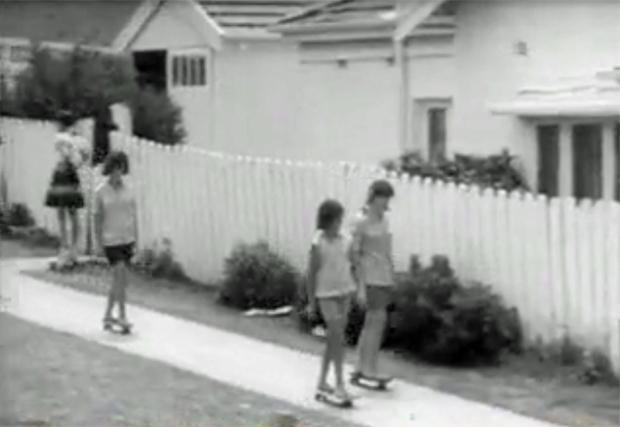 "Image 3 for ""Gremlins and Sandies in New Craze - Roller Boarding"" - 1964"