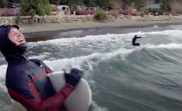Image 1 for Surfing icy, windy Lake Tahoe – Weird Waves Season 3 Episode 4