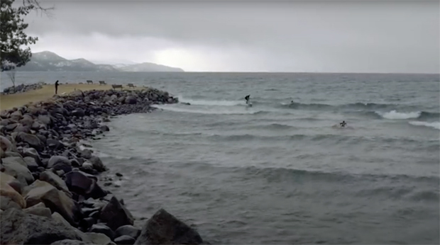 Image 2 for Surfing icy, windy Lake Tahoe – Weird Waves Season 3 Episode 4