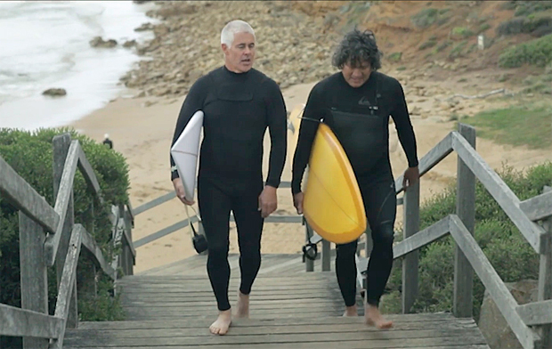 Image 1 for Craig 'Boots' Garrard and musician Phil Ceberano talk surf history and men's mental health within Australian surfing culture