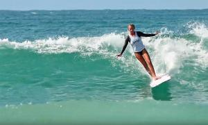 Glimpse the future: The Under 15 & Under 18 Girls finals at Noosa. This is longboarding 2019 style!